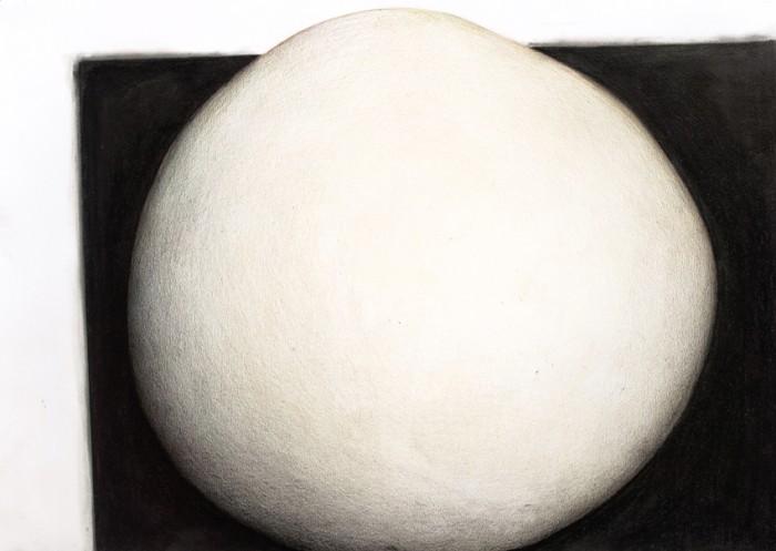 Esfera de color sobre plano negro